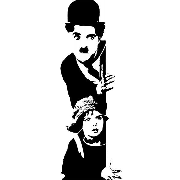 Naklejka NK004S - 40x100cm - Charlie Chaplin