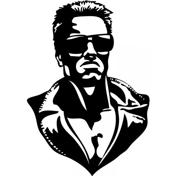 Naklejka NK014S - 50x71cm - Terminator
