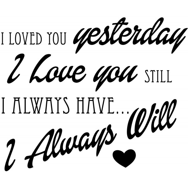 Naklejka NN002S- 60x50cm - I loved you...