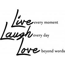 Naklejka Live, Lough, Love o wymiarze 105x75cm