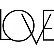 Naklejka NN022S - 74x50cm - LOVE