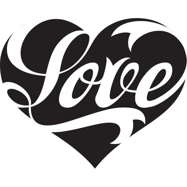 Naklejka NM008S - 62x50cm - Love