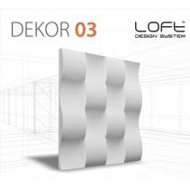 Loft System DEKOR 03 - Panel gipsowy 3D