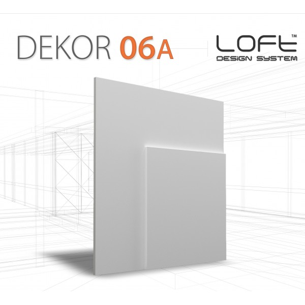Loft System DEKOR 06A - Panel gipsowy 3D