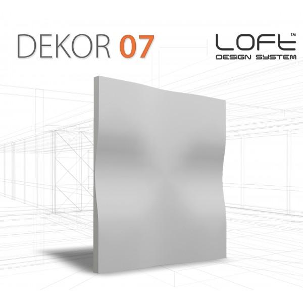 Loft System DEKOR 07 - Panel gipsowy 3D