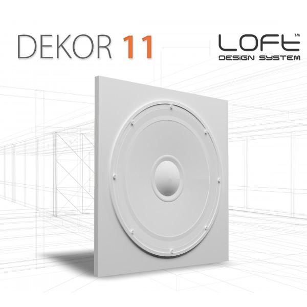 Loft System DEKOR 11 - Panel gipsowy 3D