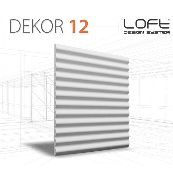 Loft System DEKOR 12 - Panel gipsowy 3D