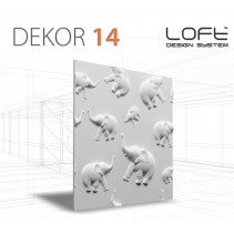Loft System Model 14 - JUNGLE - Panel gipsowy 3D