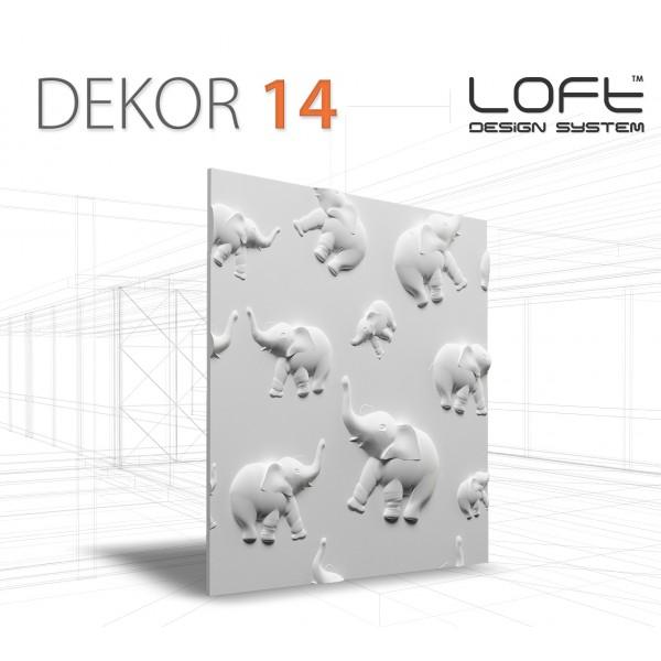 Loft System DEKOR 14 - Panel gipsowy 3D