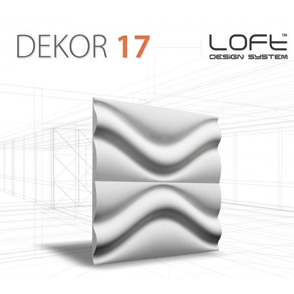 Loft System DEKOR 17 - Panel gipsowy 3D