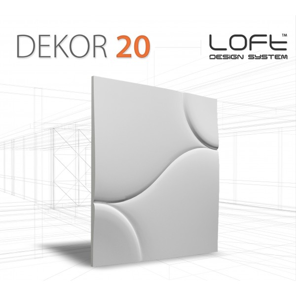 Loft System DEKOR 20 - Panel gipsowy 3D