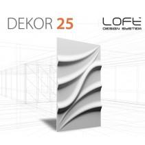 Loft System DEKOR 25 - Panel gipsowy 3D