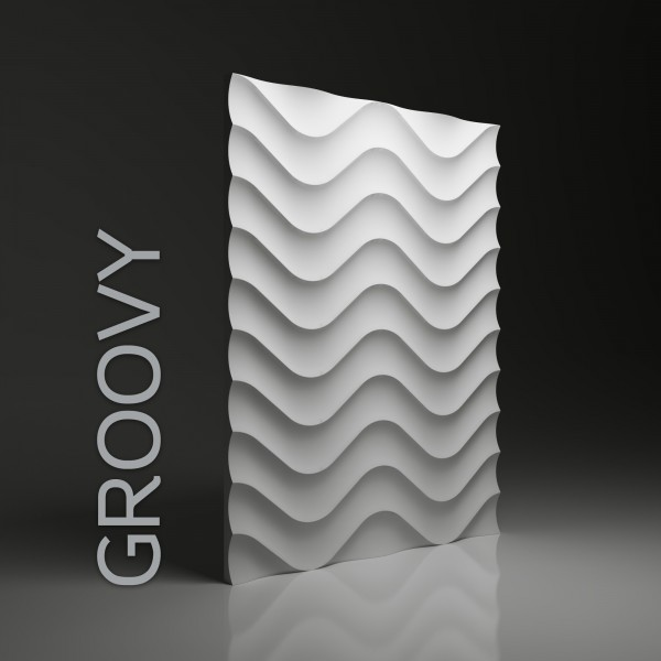 Dunes 02 GROVY - Panel gipsowy 3D