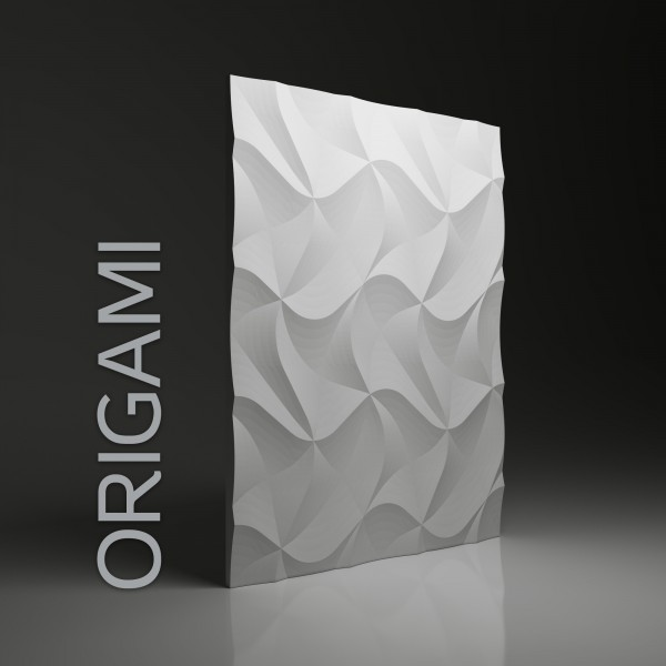 Dunes 05 ORIGAMI  - Panel gipsowy 3D