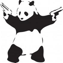 Naklejka NG014S - 50x50cm - Panda