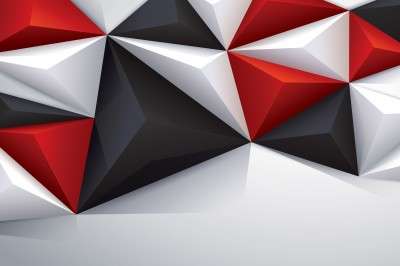 Black, red and white geometric #58906762