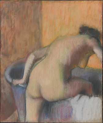 Bather Stepping into a Tub - Edgar Degas