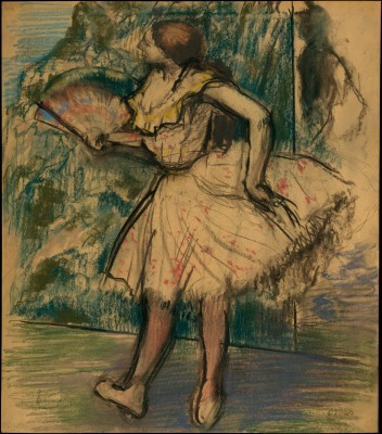 Dancer with a Fan - Edgar Degas