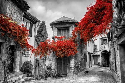 Old town of Provence Red #54256974