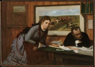 Sulking - Edgar Degas
