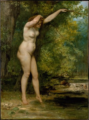 The Young Bather - Gustave Courbet