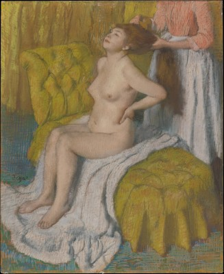 Woman Having Her Hair Combed - Edgar Degas