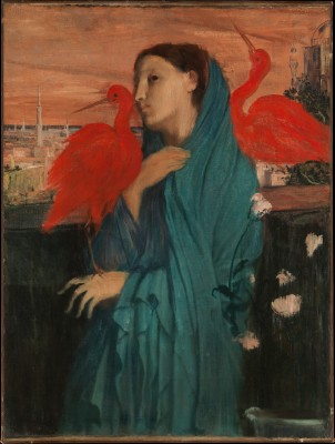 Young Woman with Ibis - Edgar Degas
