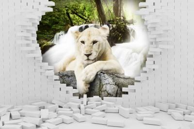 Lew w ścianie