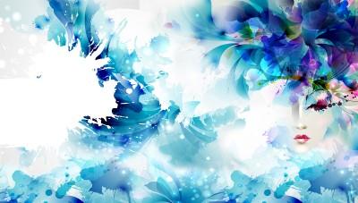 Niebieska abstrakcja