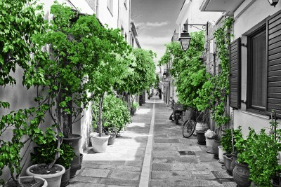 Street in Rethymnon Green #73425369